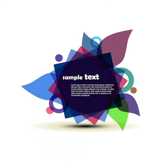 Abstract background with modern shapes and space for text