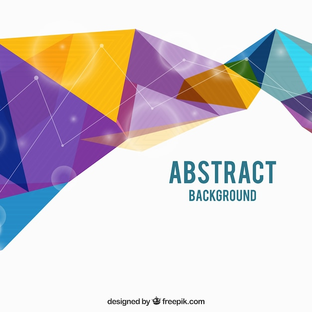 Abstract background with modern triangles