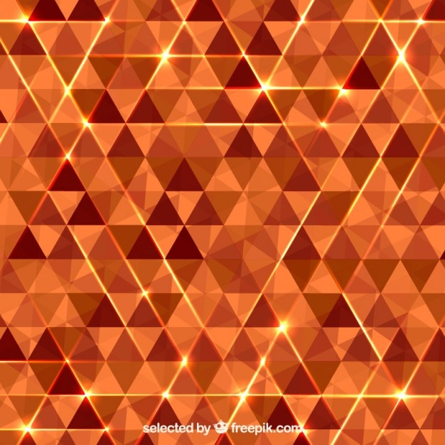 Abstract background with orange\ triangles