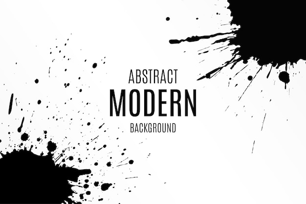 Abstract background with paint splashes Free Vector