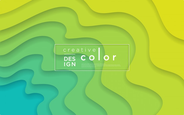 Abstract background with paper cut style Premium Vector