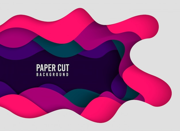 Abstract background with papercut style Premium Vector
