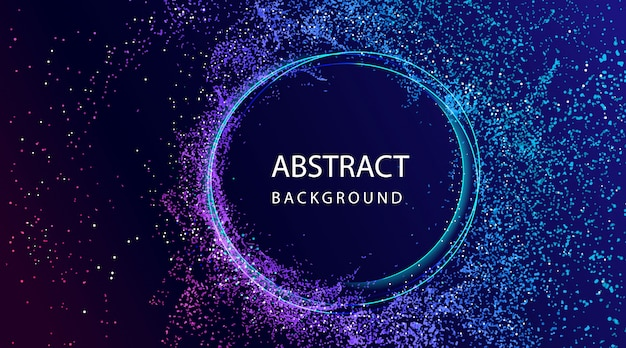 Abstract background with particle composition Premium Vector