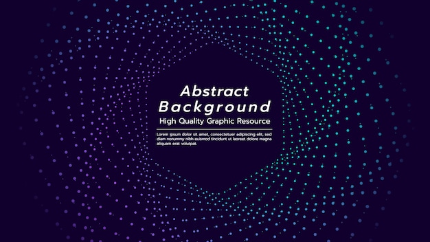 Abstract background with particles floating are hexagon shape. Premium Vector