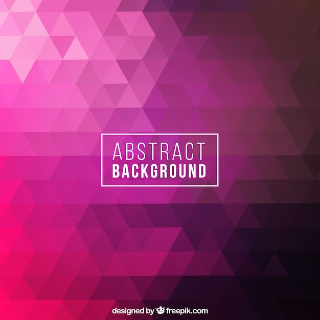 Abstract background with pink geometric Free Vector