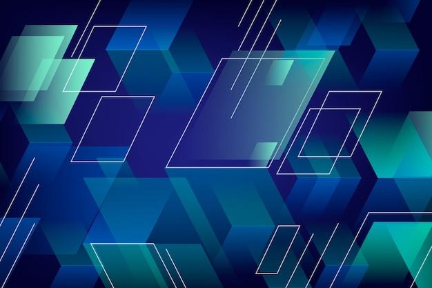 多角形と抽象的な背景 無料ベクター
