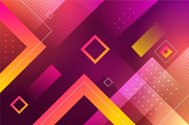 Abstract background with polygonal shapes Free Vector