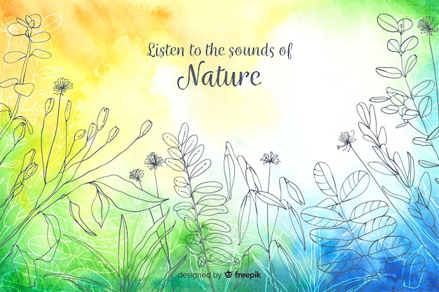 Abstract background with quote about nature Free Vector