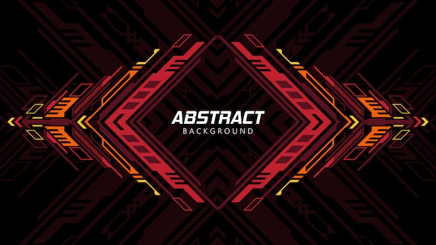 Abstract background with red shapes Premium Vector