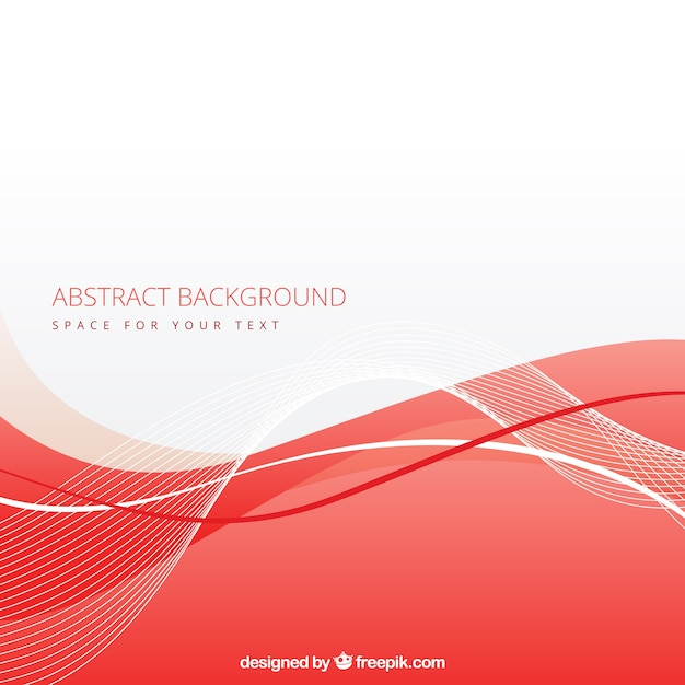 Abstract background with red wave Vector | Free Download