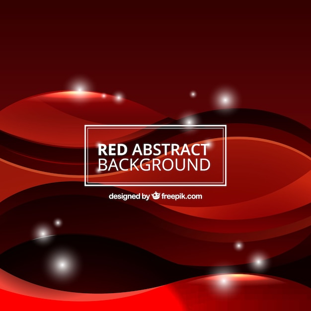 Abstract background with red waves