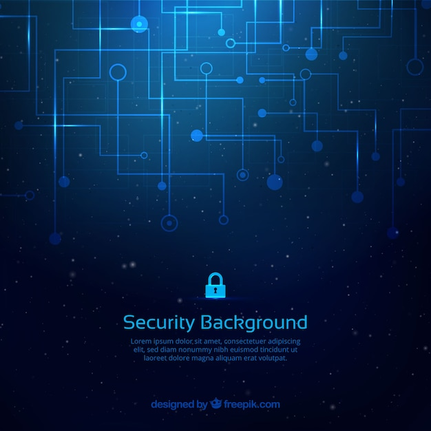 Abstract background with security connections Free Vector
