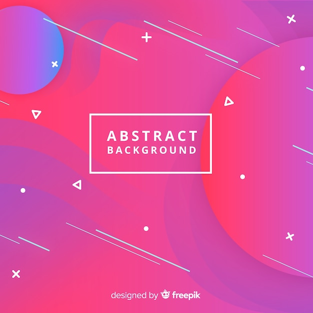 Abstract background with shapes Free Vector