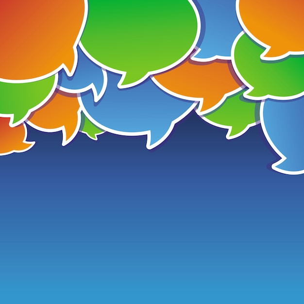 Abstract background with speech bubbles Premium Vector