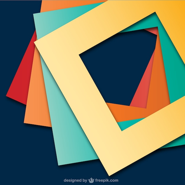 Abstract Background With Square Frames Vector