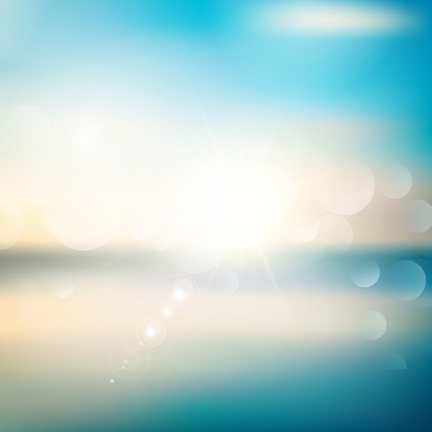 Abstract background with a summer theme Free Vector