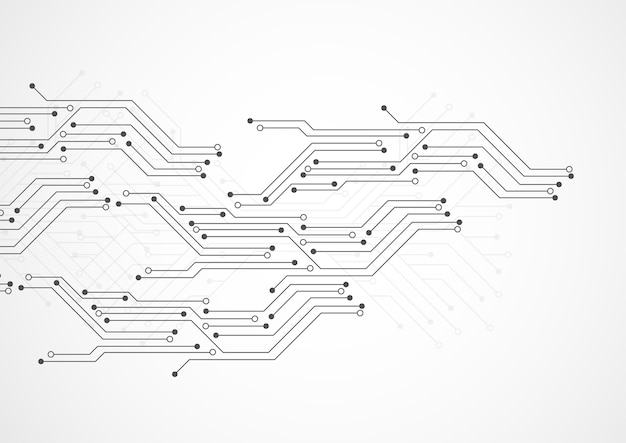 Abstract background with technology circuit board texture Premium Vector