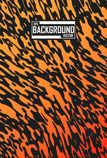 虎のパターンと抽象的な背景 無料ベクター