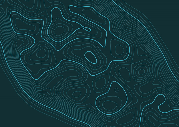 Abstract background with a topography landscape design Free Vector