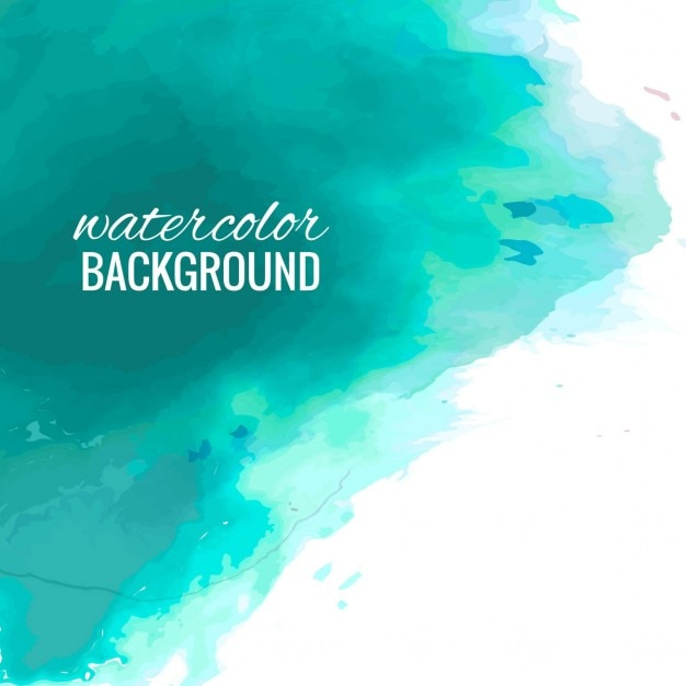 Abstract Background With Turquoise Watercolor
