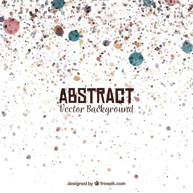 Abstract background with watercolor spots