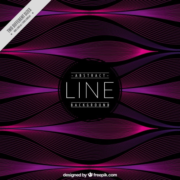 Abstract background with waves lines