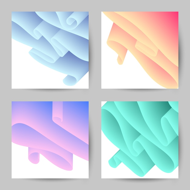 Abstract background with waves. Premium Vector