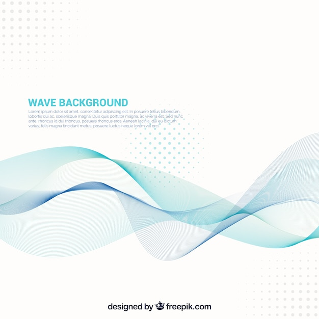 Abstract background with wavy forms and\ dots