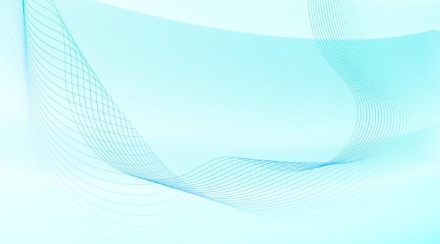 Sfondo astratto con linee ondulate Vettore gratuito