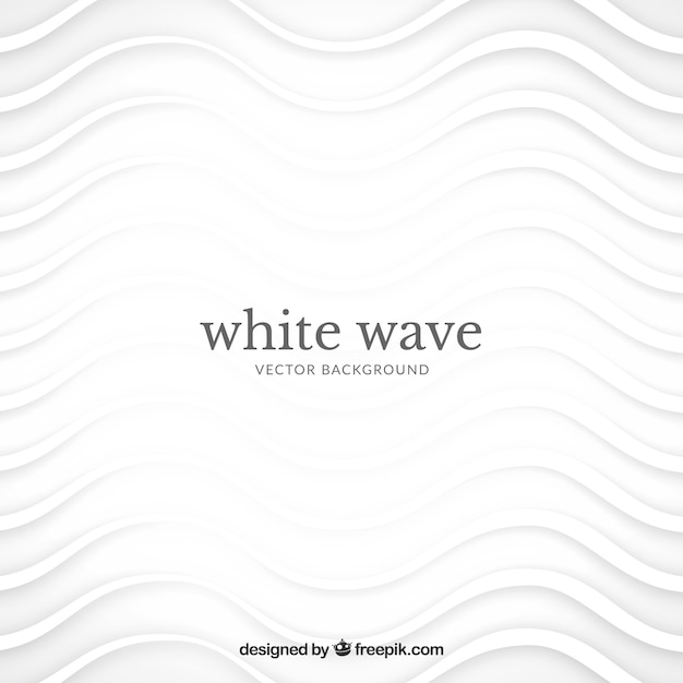 Abstract background with white waves