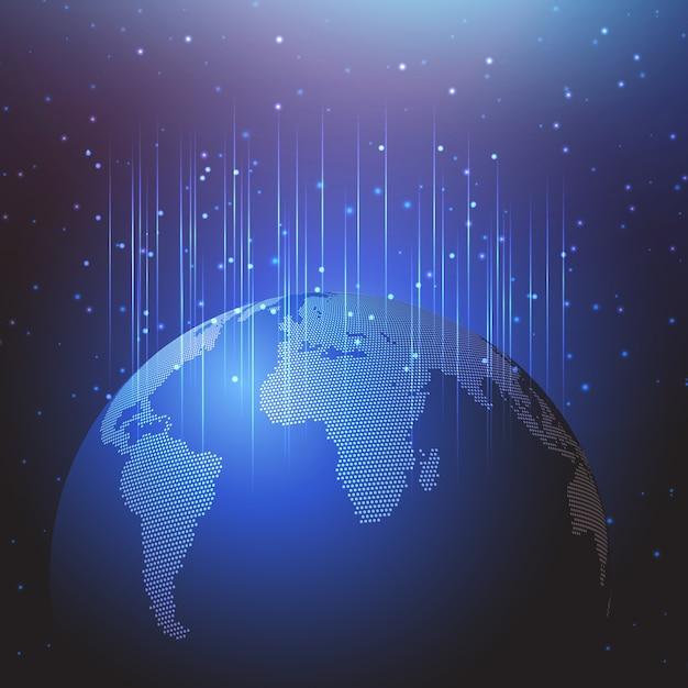 Priorità bassa astratta con un disegno del globo del mondo Vettore gratuito