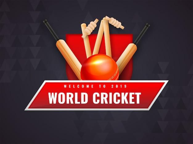 Abstract background for world cricket championship Premium Vector