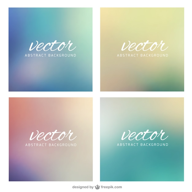 Abstract backgrounds set Free Vector