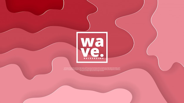 Abstract backround with fluid shapes Premium Vector