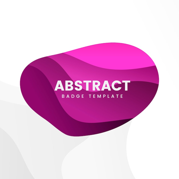 Abstract badge design in pink Free Vector