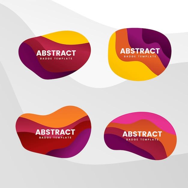 Abstract badge design vector set Free Vector