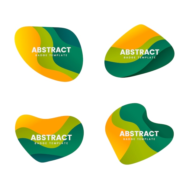 Abstract badge design vector set Free Vector
