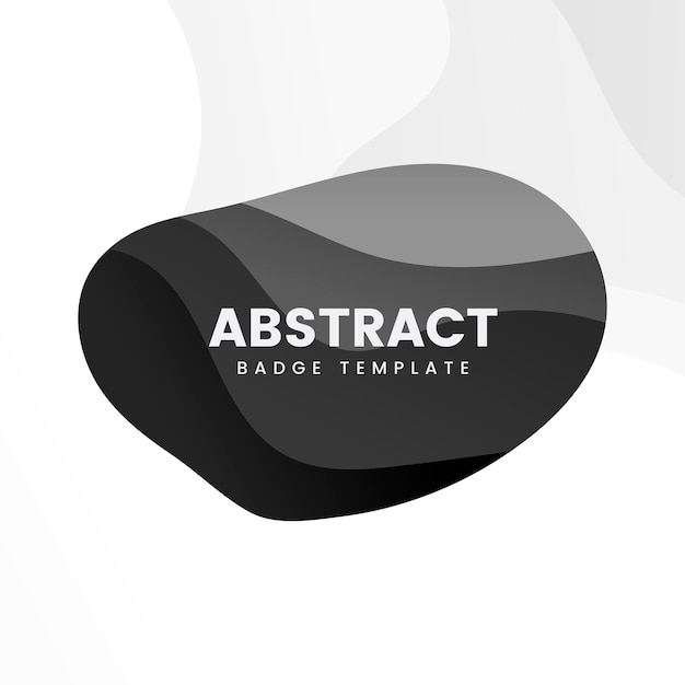 Abstract badge template in black Free Vector