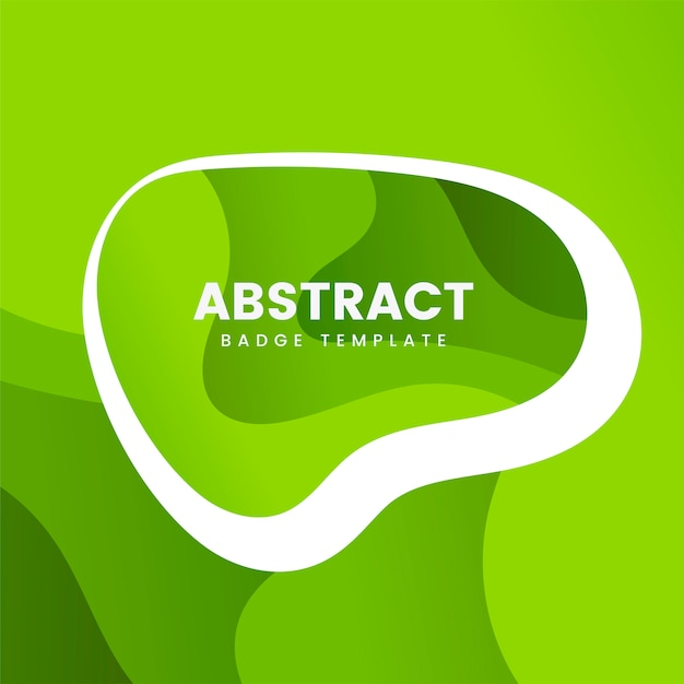 Abstract badge template in green Free Vector