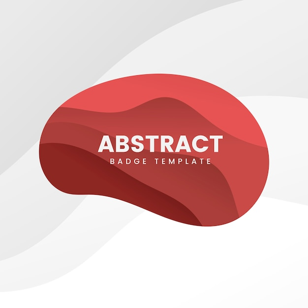 Abstract badge template in red Free Vector