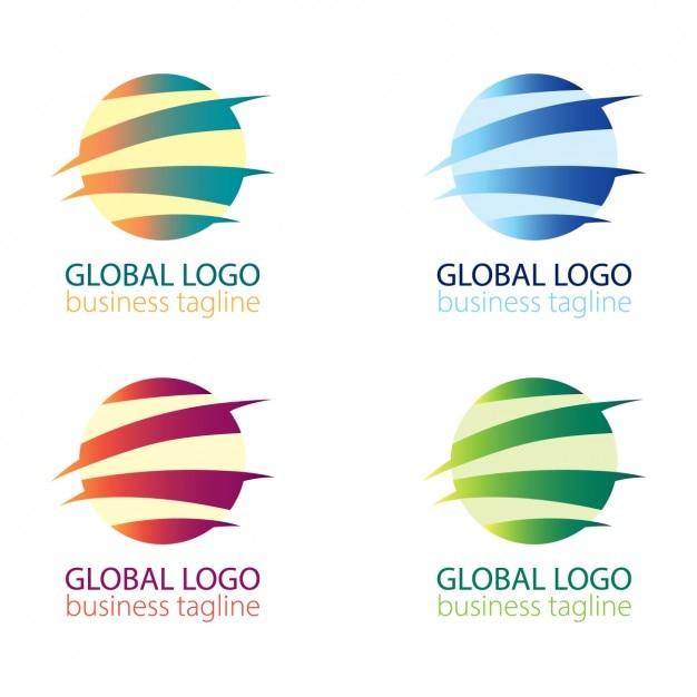Аннотация шар логотип пакет Бесплатные векторы