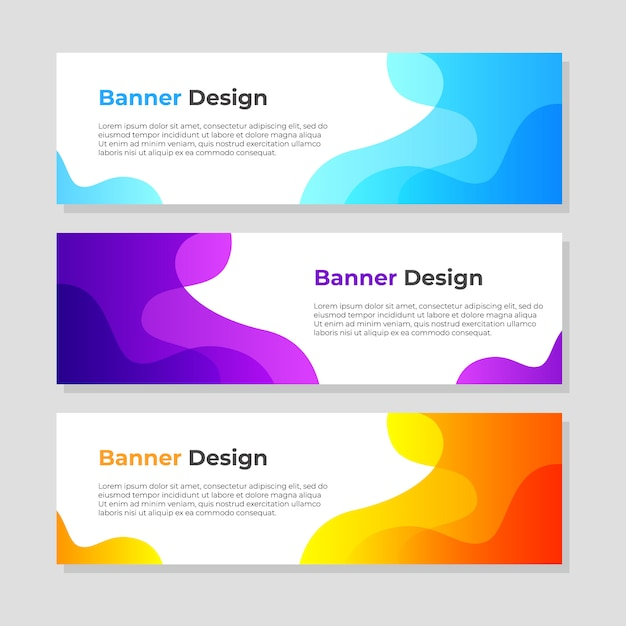Abstract banner background design template Premium Vector
