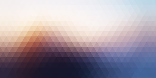 Abstract banner background with low poly Free Vector