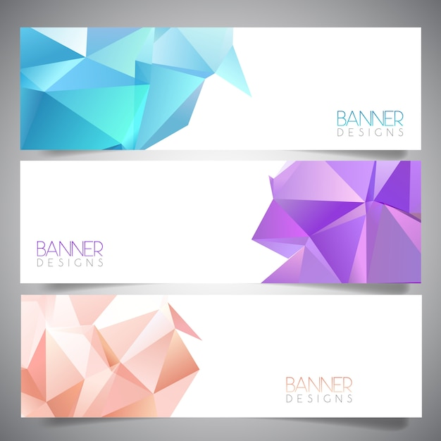 Abstract banner designs Free Vector