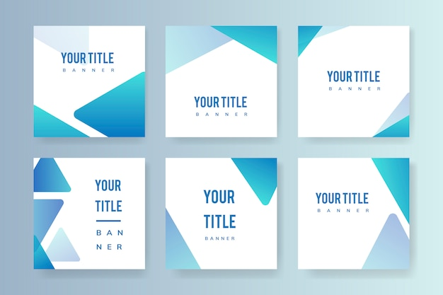 Abstract banner illustration set Free Vector