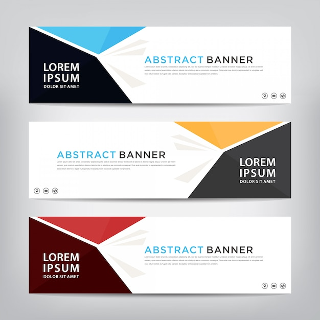 Abstract banner template set Premium Vector