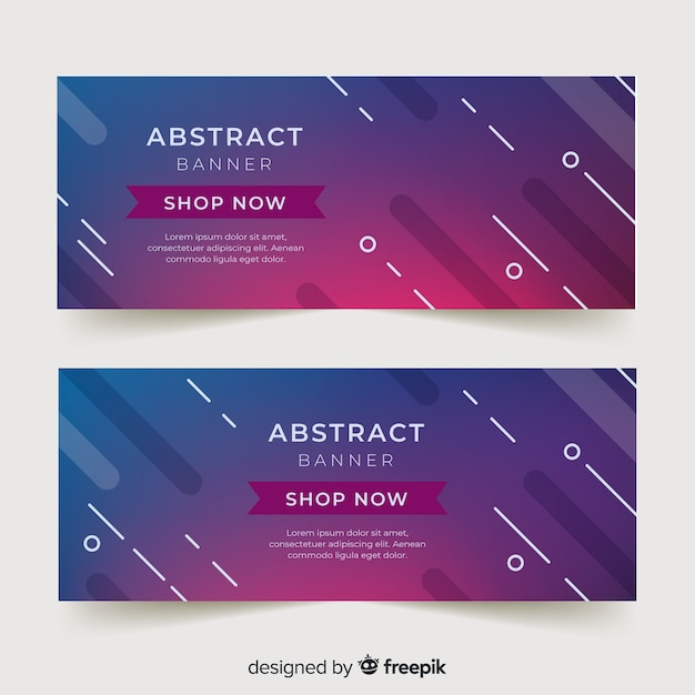 Abstract banner template Free Vector