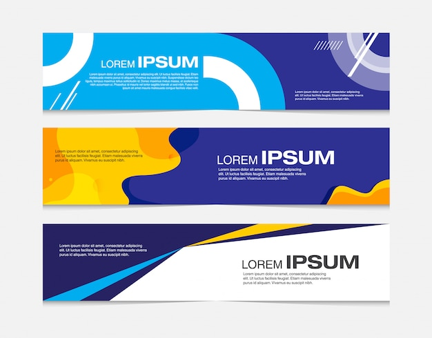 Abstract banner template Premium Vector