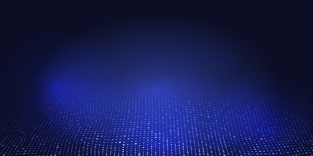 ハーフトーンドットデザインの抽象的なバナー 無料ベクター