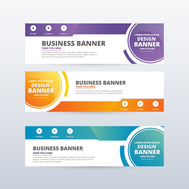 Abstract banners collection Free Vector